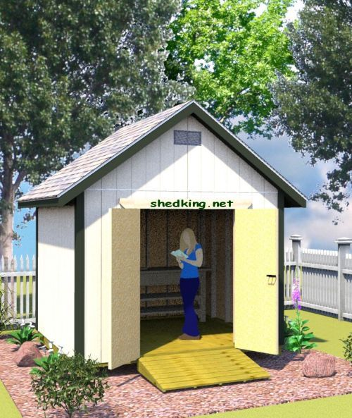 Backyard Storage Shed 10x10 Gable Shed Plans She Sheds