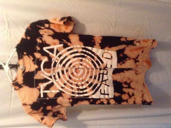 Tyga Faded Black bleached Tie Dye T Shirt small on Etsy, $17.00