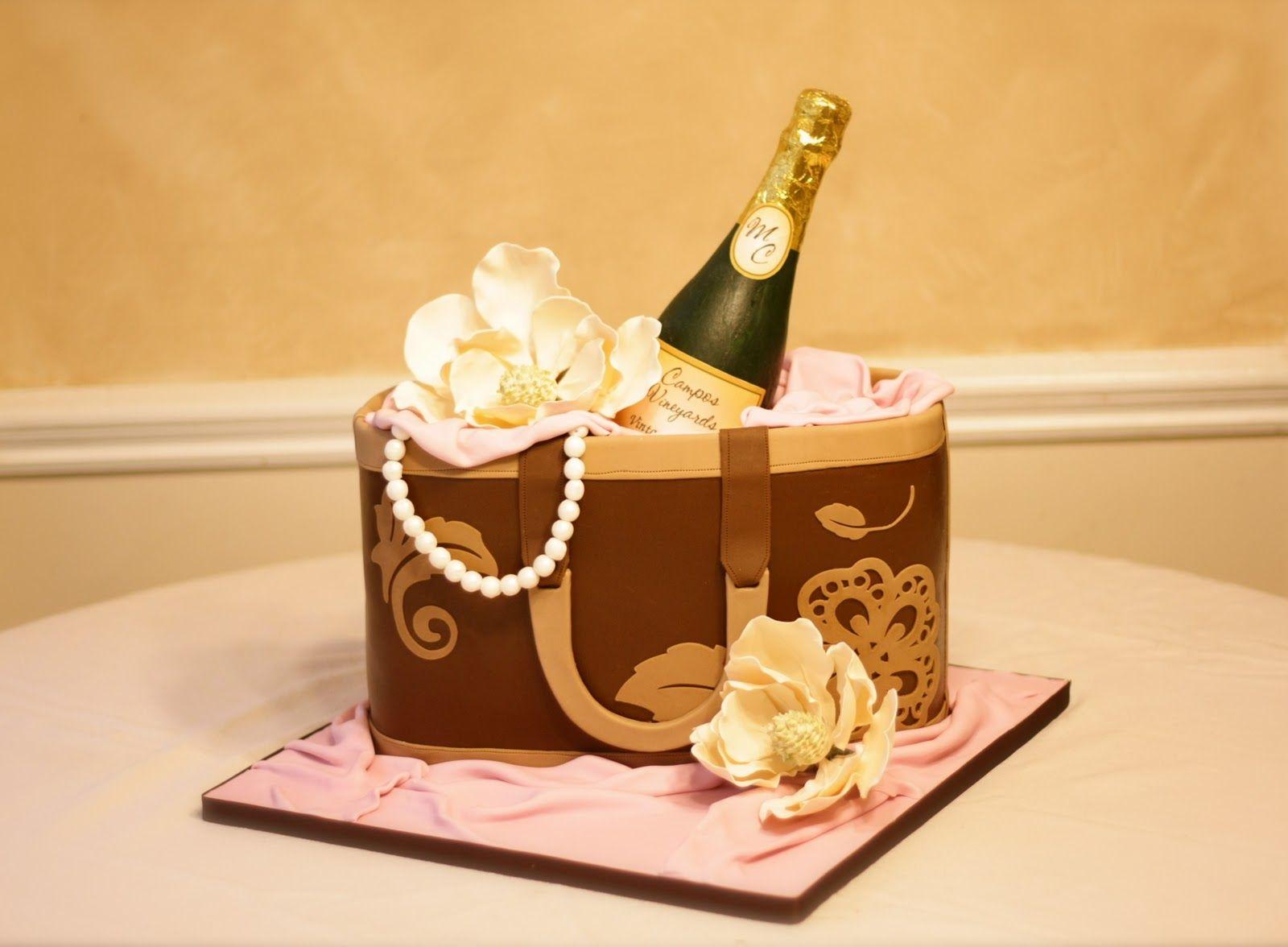 Champagne Cake Disco Cake Gift Box Cakes Champagne Cake