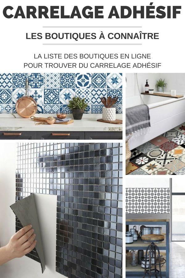 la liste des boutiques pour acheter du carrelage adh sif en ligne carrelage pinterest. Black Bedroom Furniture Sets. Home Design Ideas