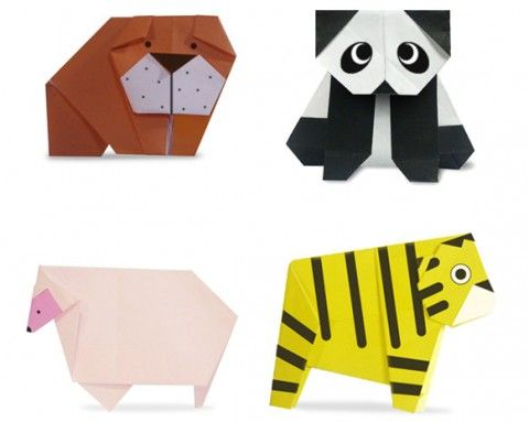 Easy Origami Folding Instructions - How to Make Origami for Kids. - kan jo ha ulike origami figurar som navnekort :)