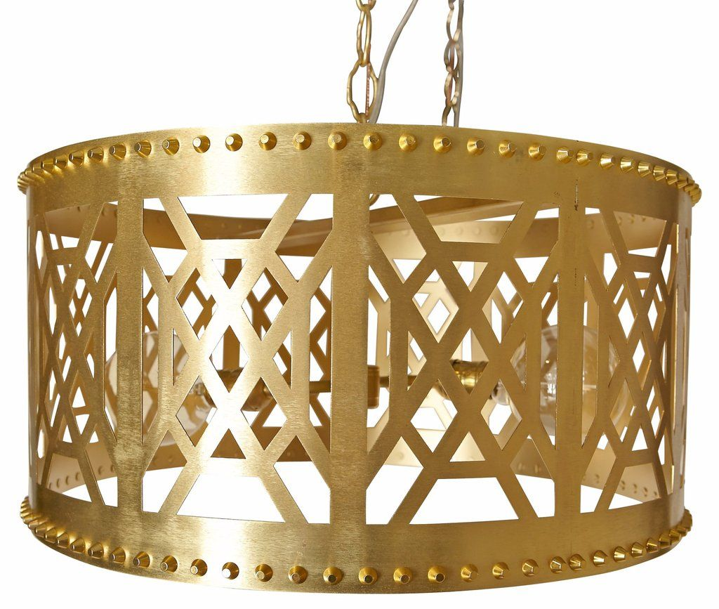 Brass pendants and spaces