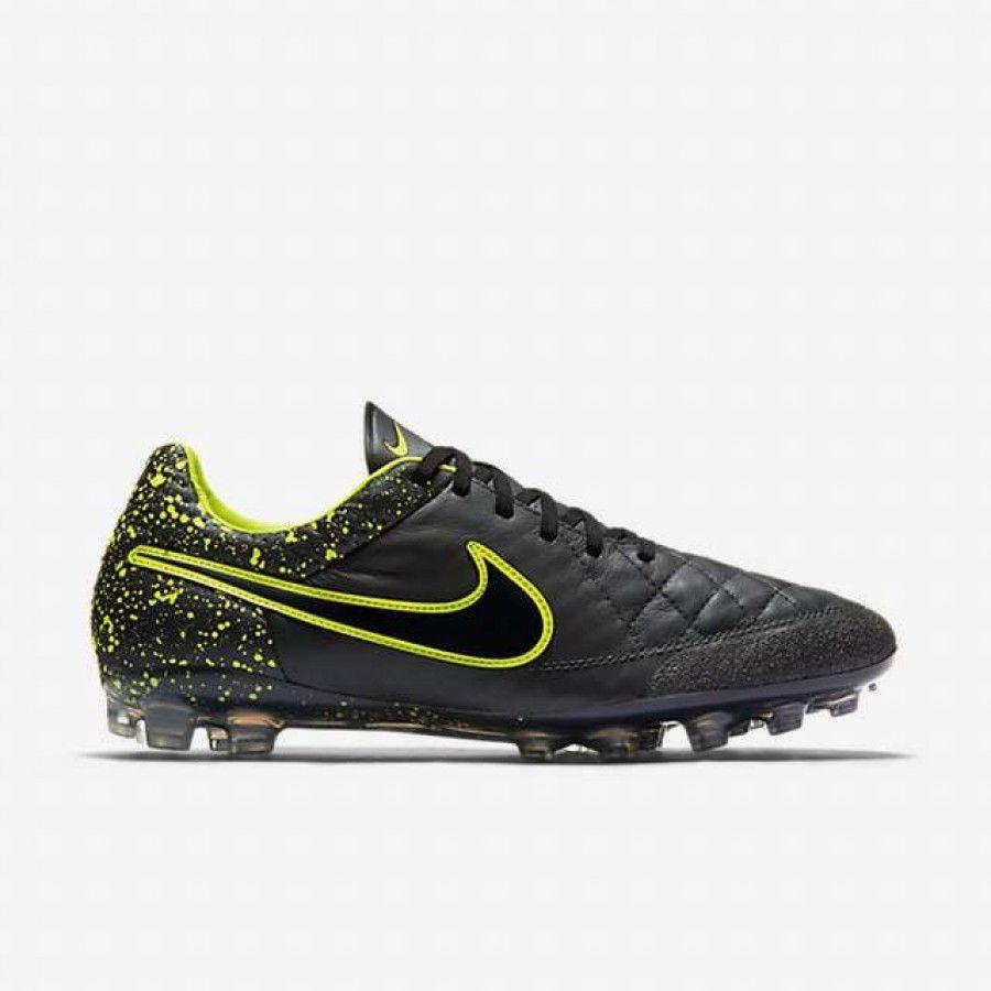 En riesgo Treinta Proponer  NIKE MENS TIEMPO LEGEND V FG SOCCER CLEATS 717143 - 007 Black/Volt | Size:  10 | Nike air huarache, Nike men, Soccer boots