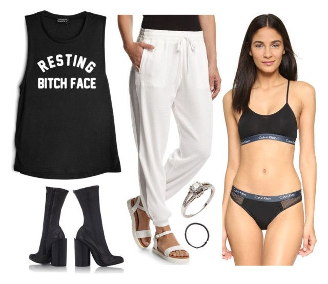 """""""SET 631"""" by janestte ❤ liked on Polyvore featuring Calvin Klein Underwear, Norma Kamali, Givenchy, H&M, women's clothing, women, female, woman, misses and juniors"""