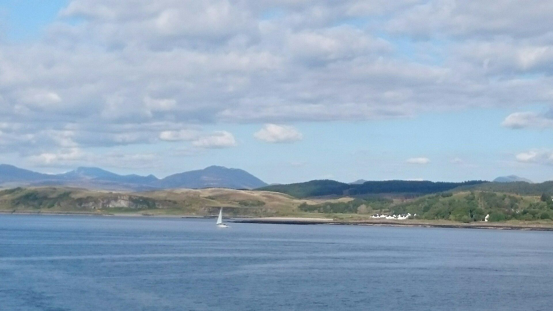 Ganavan Sands from Mull ferry