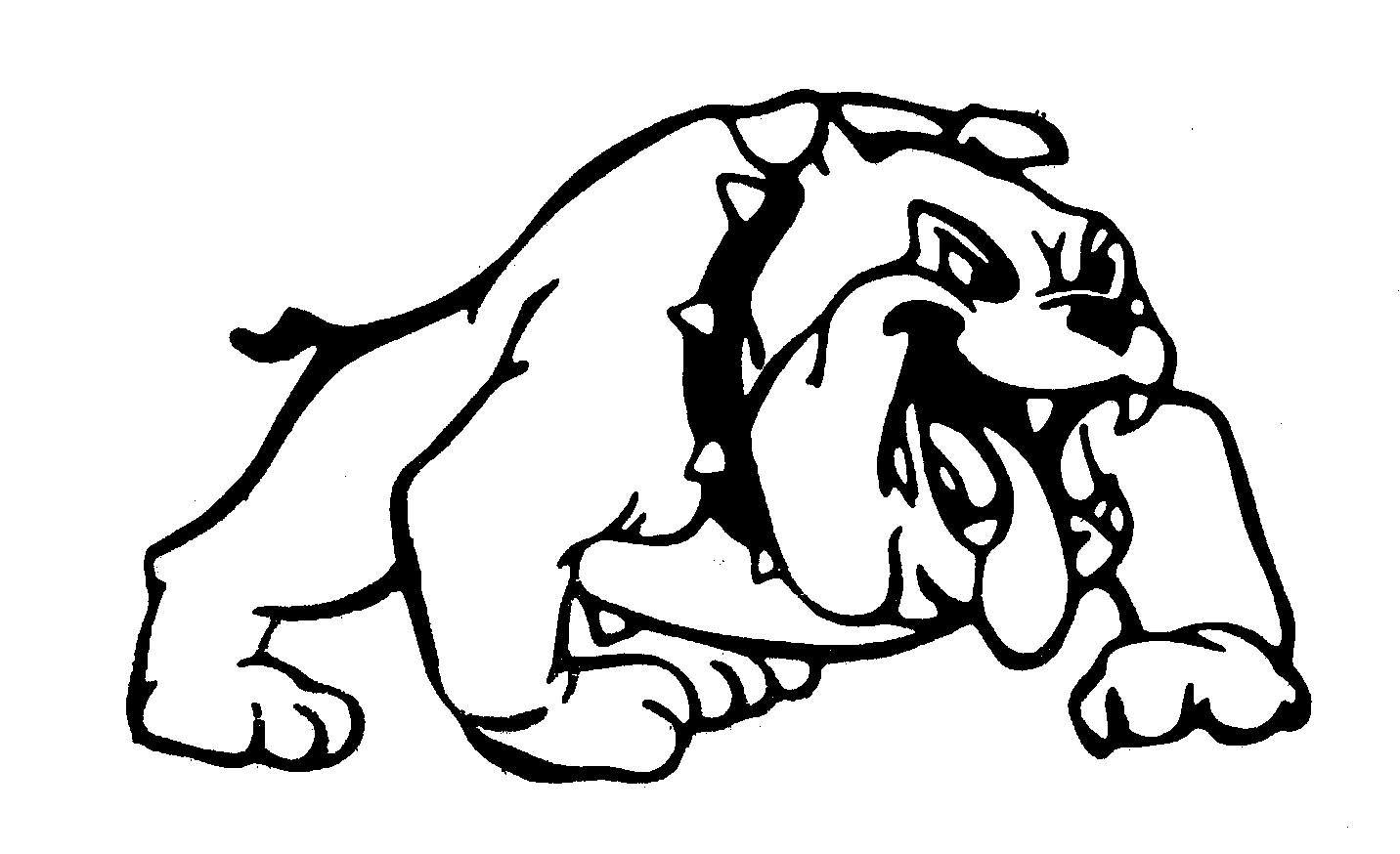 Bulldog Animals Designs Bulldog With Chock Collar Clip Art