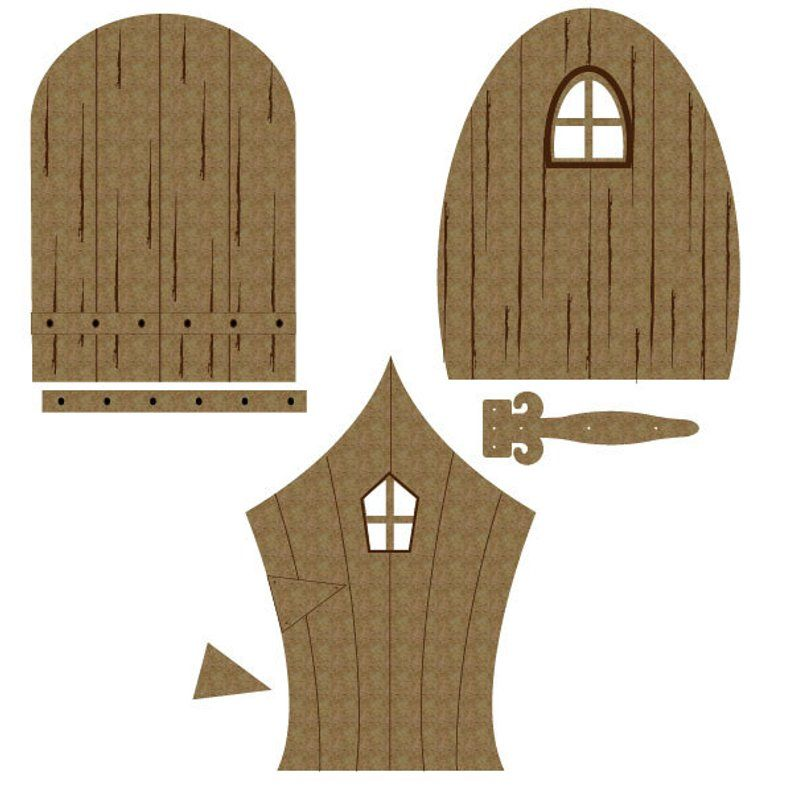 10pcs Magical Fairy Door Garden House Wooden Plaque Mini Sign