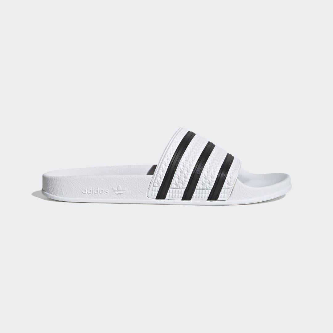 adidas Adilette Slides - White | adidas US in 2020 | White ...