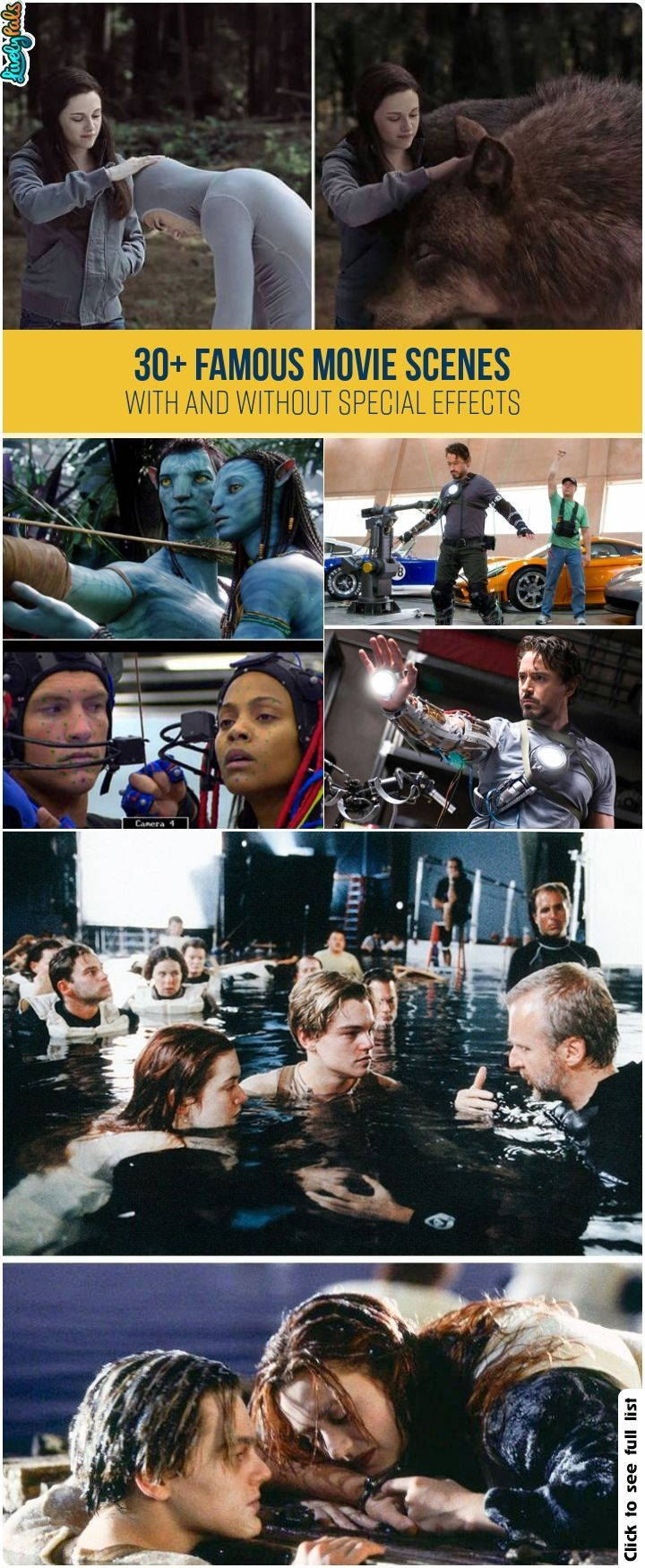 30+ Famous Movie Scenes With And Without Special Effects
