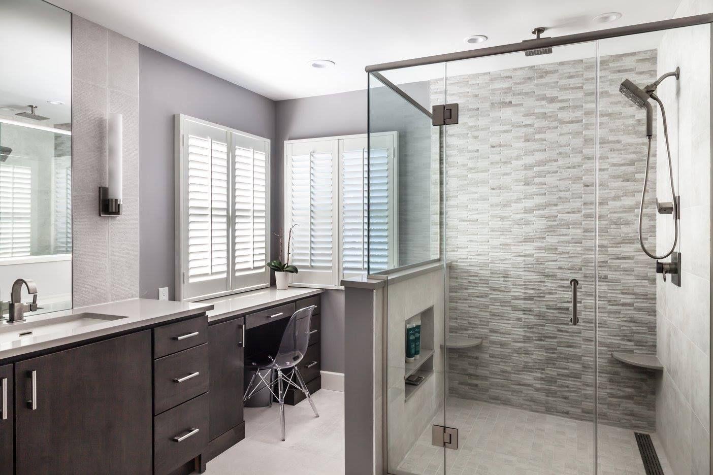 textural master bath  west orange nj  home remodeling