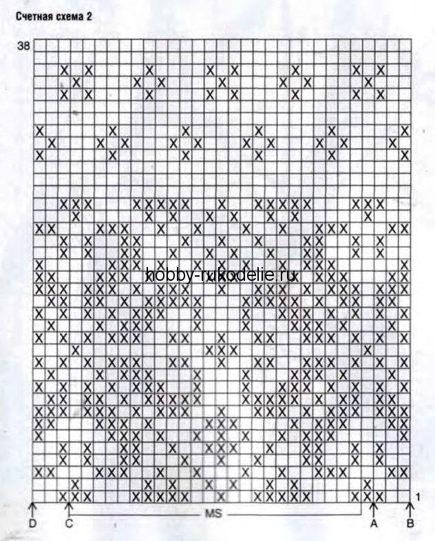 Вязание жаккарда узоры схем 545