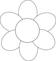 Flower Template Free Printable  Google Search  Clip Art