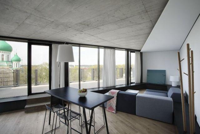 Faux plafond moderne dans la chambre à coucher et le salon - faux plafond salle de bain