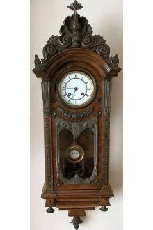 Walnut Vienna Regulator clock by Lenzkirch, circa 1875