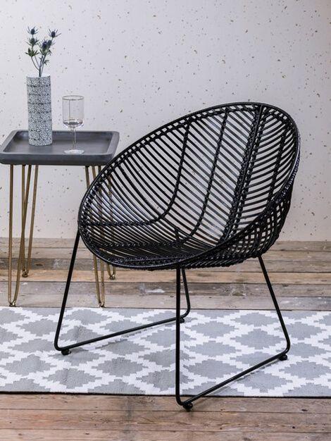 Designer Black Rattan Chair   Buy Unique Furniture Online