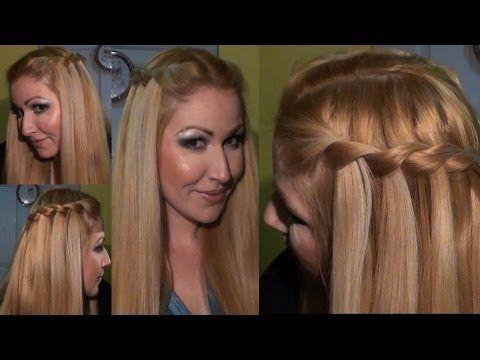 Peinado Trenza De Cascada Waterfall Twist Braid Hairstyle Hair Tutorial Khaleesi Hair Easy Everyday Hairstyles Peinados Hair Styles