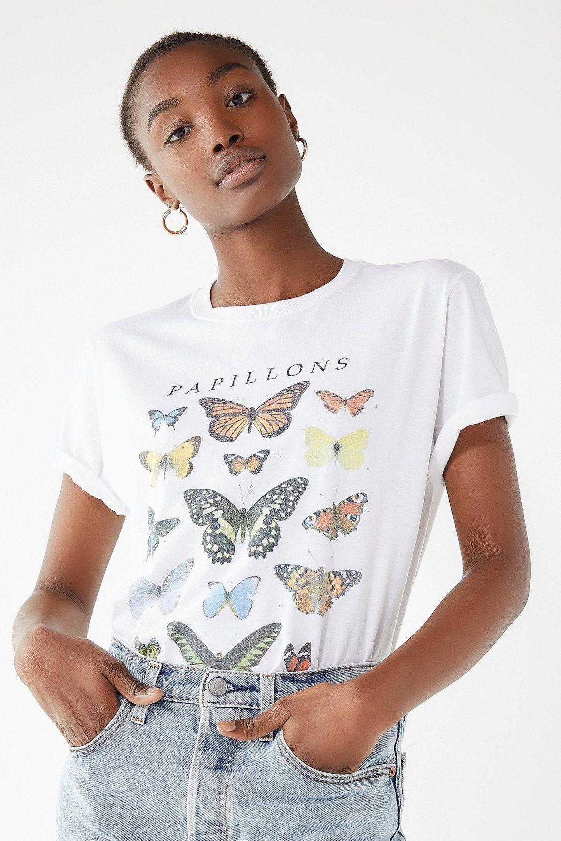 a39205499ecdb Butterfly Crew-Neck Tee