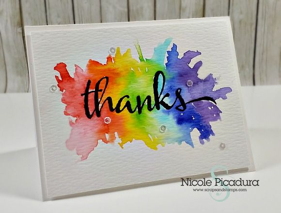 Scraps Stamps Clean Simple Cardmaking Creative Cards Rainbow Card Cards