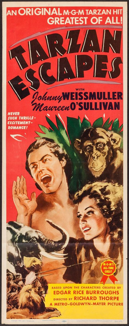 #Tarzan Escapes (MGM, R-1954) #MoviePoster #MGM