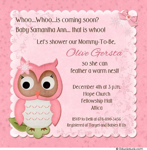 Free Owl Baby Shower Invitations BabyOwlShowerWinter