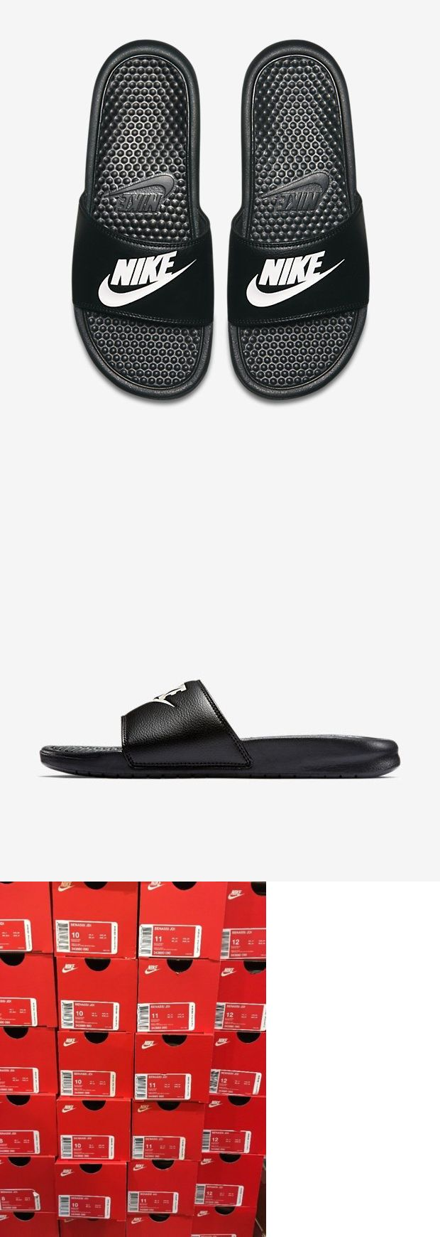 3ff832877e7b34 Sandals 11504  Nwt Nike Benassi Jdi Black White Men S Slides Slide 8 9 10  11 12 Flip Flop -  BUY IT NOW ONLY   23 on  eBay  sandals  benassi  black   white ...