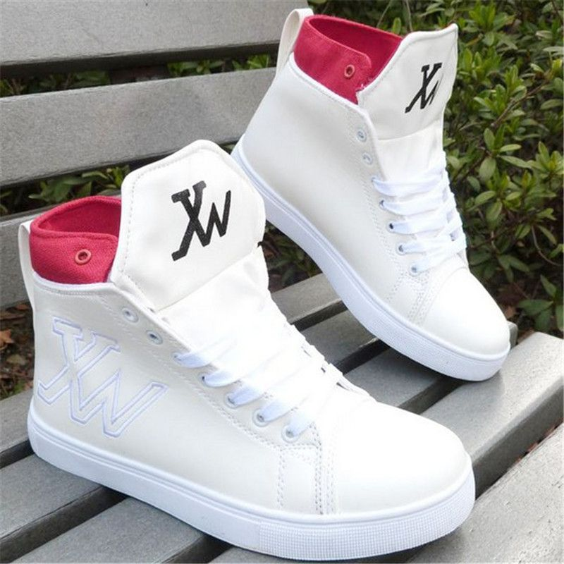 Mens Hidden Heel High Top Sport Sneakers Korean Breathable Casual Shoes Platform