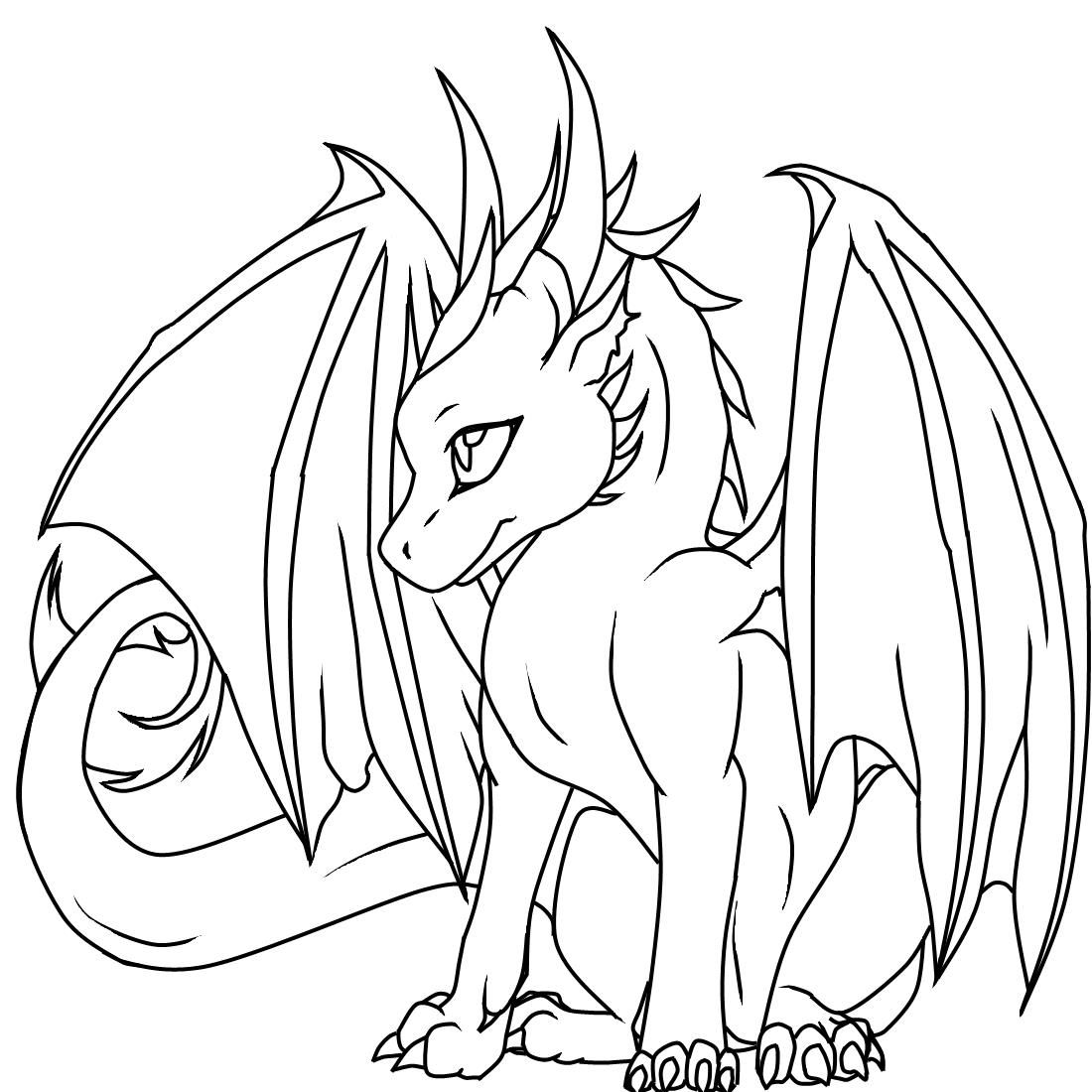 Coloring Pages For Girls Dragons Easy Dragon Drawings Dragon