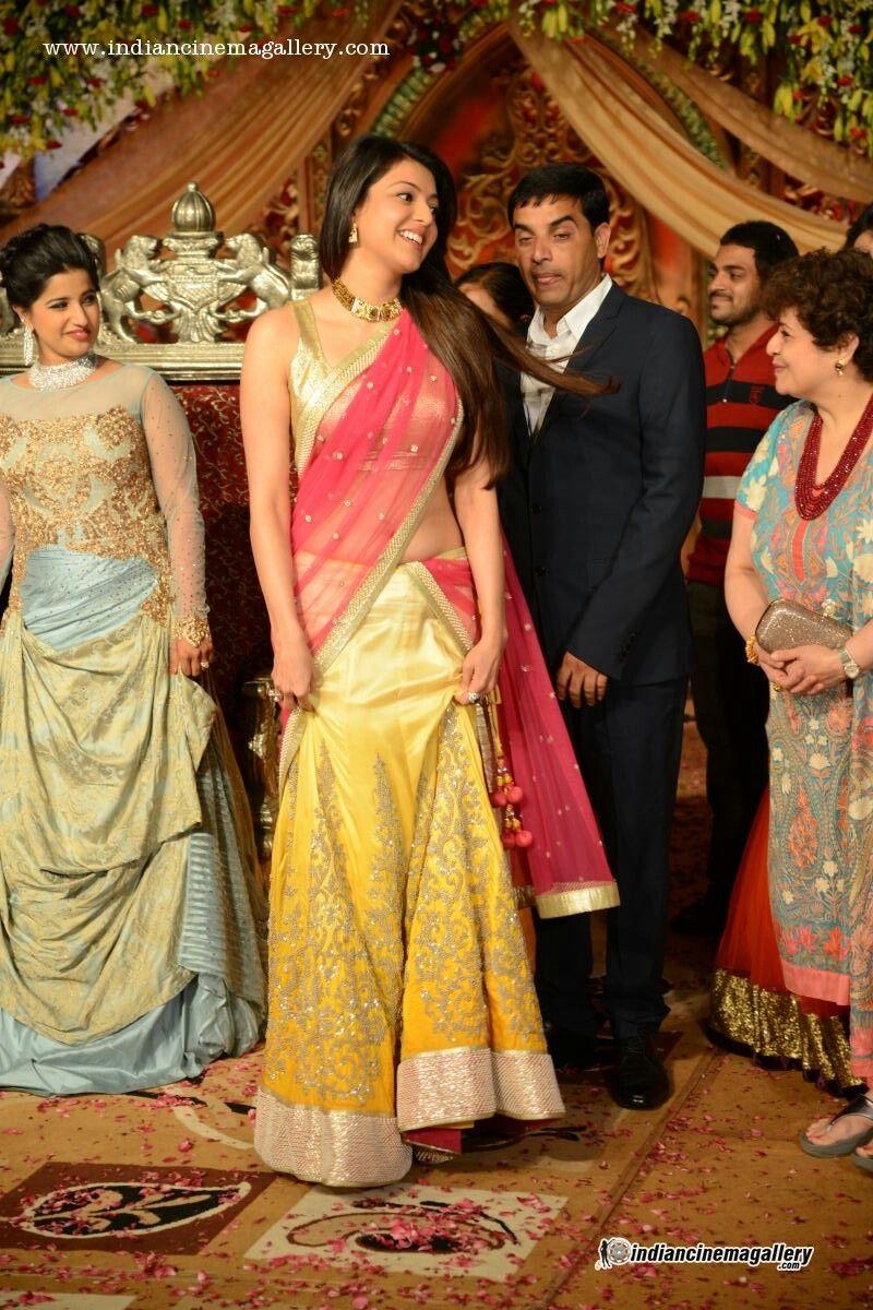 Kajal agarwal attends Dil raju daughter wedding reception