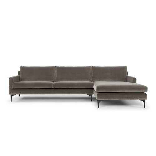 Charlie 119 Sectional In 2020 Modern Rustic Interiors L Shaped Sofa Modern Sectional