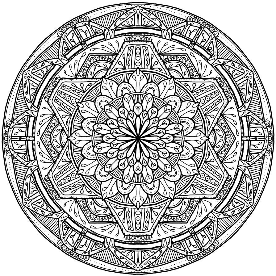 Krita Circles Mandala 7 by WelshPixie