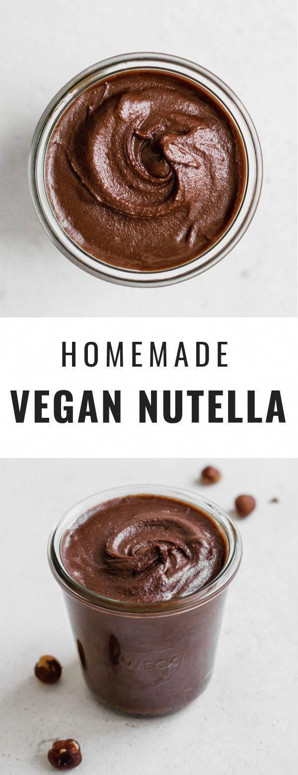 Photo of This homemade vegan Nutella is a healthy recipe that is super creamy! …
