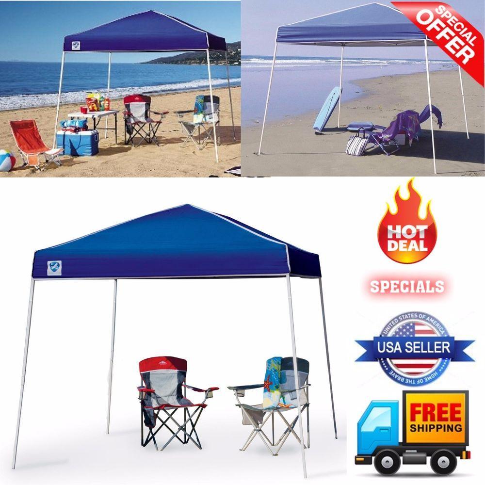 Canopy Tent 10X10 Folding Pop Up Party Beach Portable Large Blue Outdoor New #CaravanCanopy #Dome  sc 1 st  Pinterest & Canopy Tent 10X10 Folding Pop Up Party Beach Portable Large Blue ...