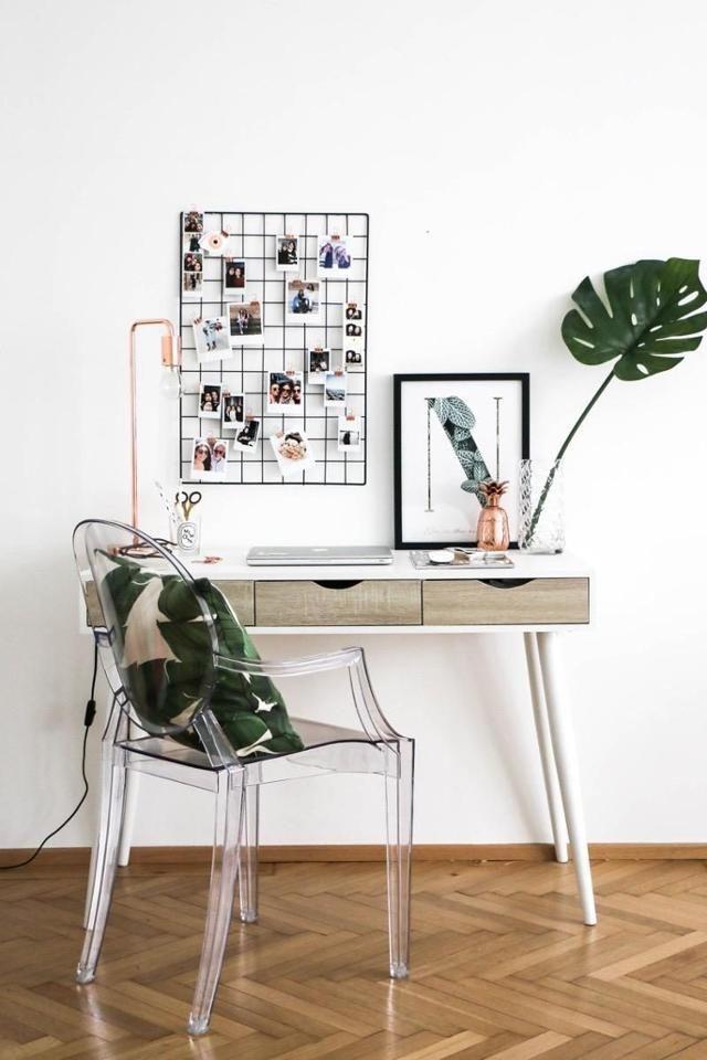 Hereinspaziert ins Arbeitszimmer mit Ghost Chair Entdecke noch mehr