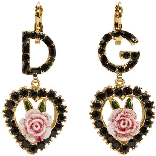 J & F Women's Earrings Heart Shaped With Swarovski Crystals mNi9G