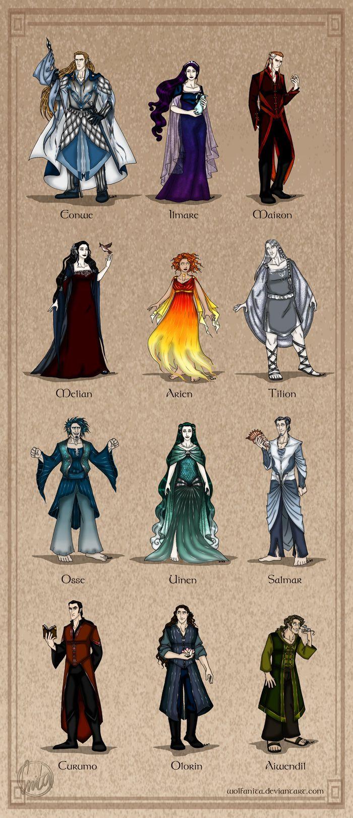 The Valar The Maiar From The Silmarillion Fan Art Tolkien Art The Hobbit Tolkien
