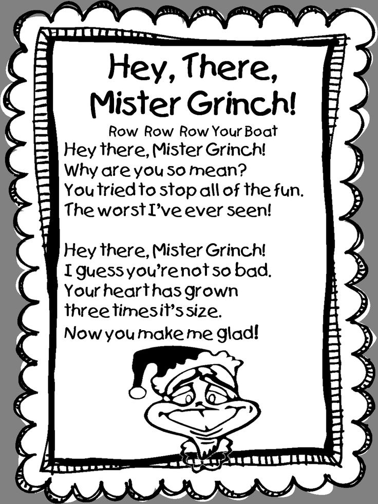 song hey there mister grinch tune row row row your boat by first grade wow - Grinch Christmas Song