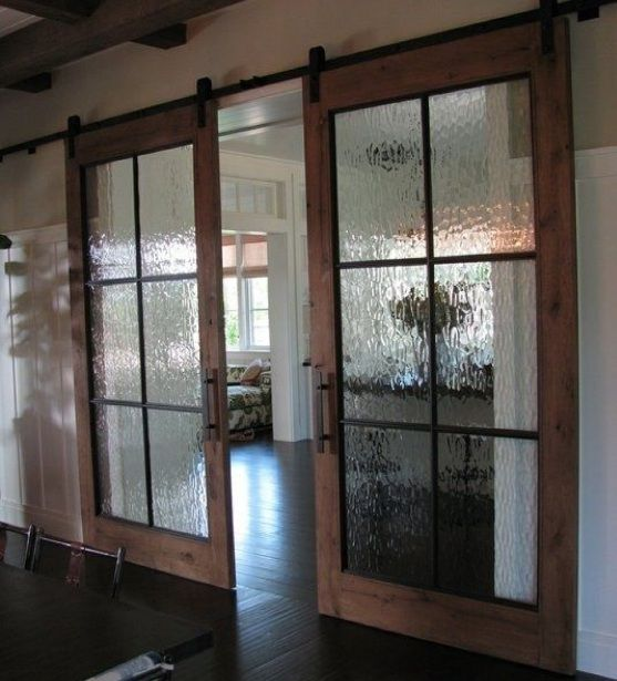 Interior Sliding French Doors With Frosted Glass For Room Dividers Home Doors Design Inspiration Doorsm Barn Style Doors Glass Barn Doors Barn Door Designs