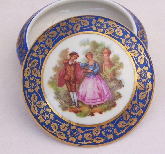 Limoges French Porcelain Trinket Box La Reine Porcelaine Etsy Trinket Boxes Limoges Trinket