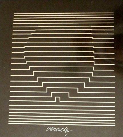 Ilige-Neg - Victor Vasarely - Prints - Original Prints