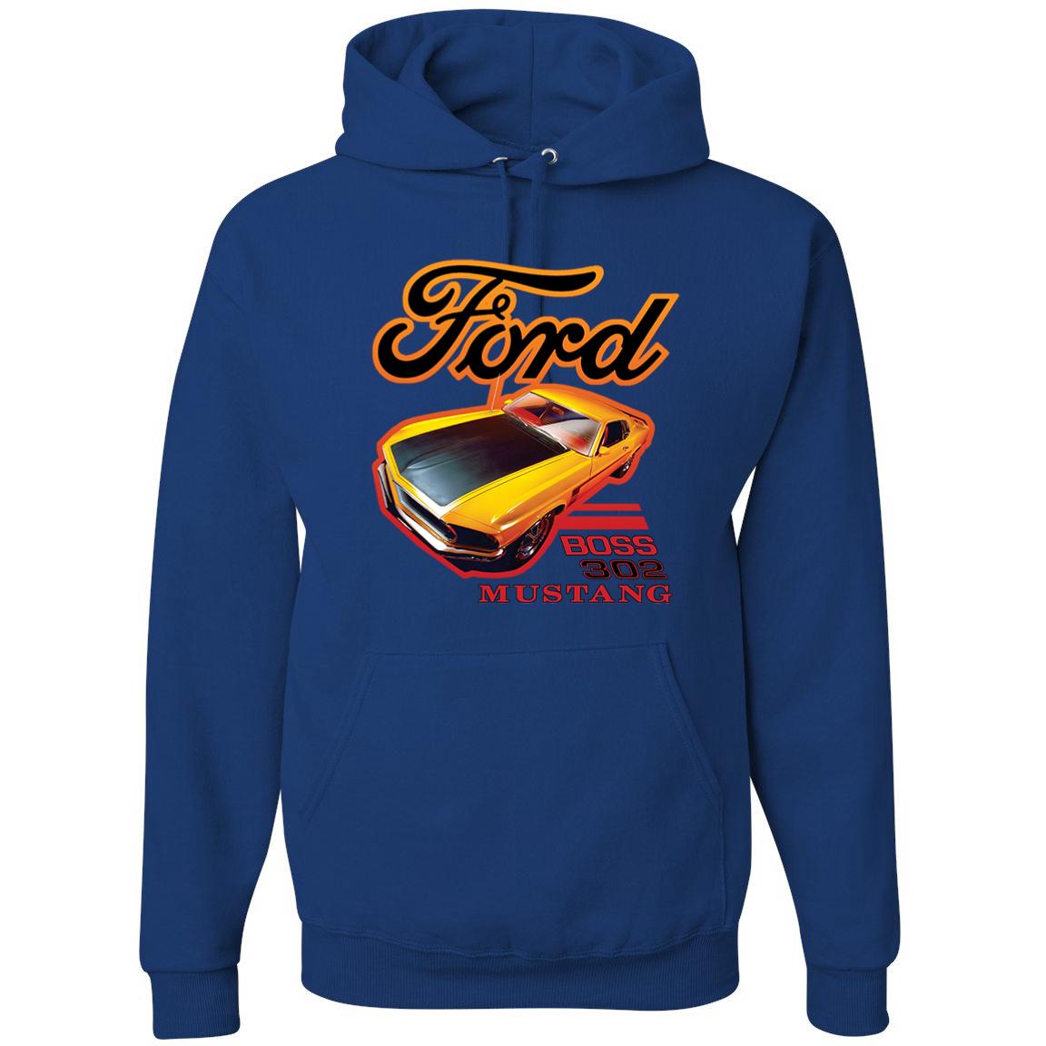 Ford Boss 302 Mustang Racing Classic Cars and Trucks Graphic Hoodie Sweatshirt, …