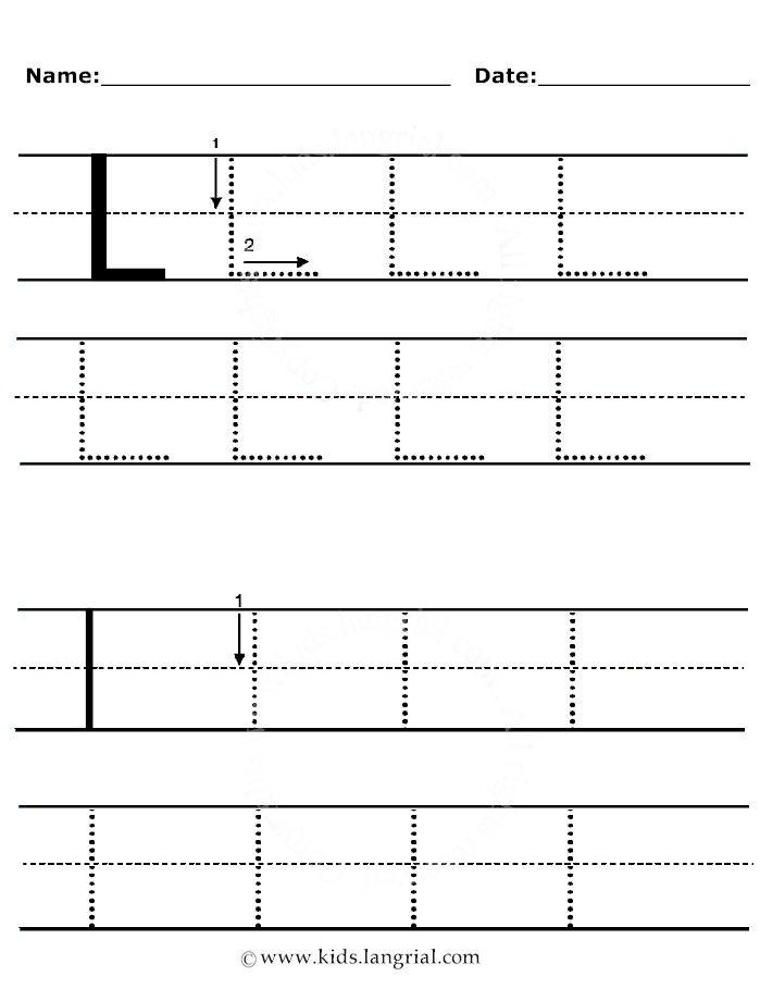 L00 Handwriting Jpg 699 920 Pixels Alphabet Writing Practice Alphabet Writing Alphabet For Kids Letter l tracing worksheet for preschool