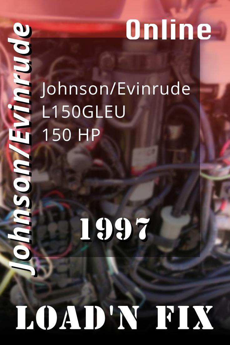 1997 L150gleu Johnson Evinrude Eu 150hp Outboard Motor Diy Repair Outboard Motors Repair