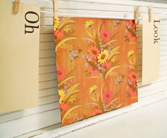 Vintage Country Floral Gift Wrap Wrapping by buckeyesandbluegrass