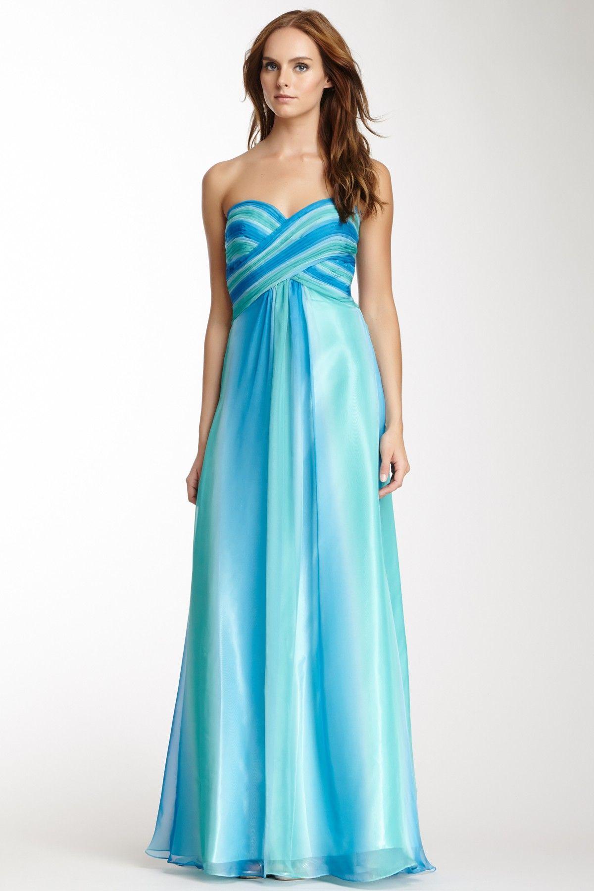 La femme ombre stripe bodice empire gown haljine pinterest
