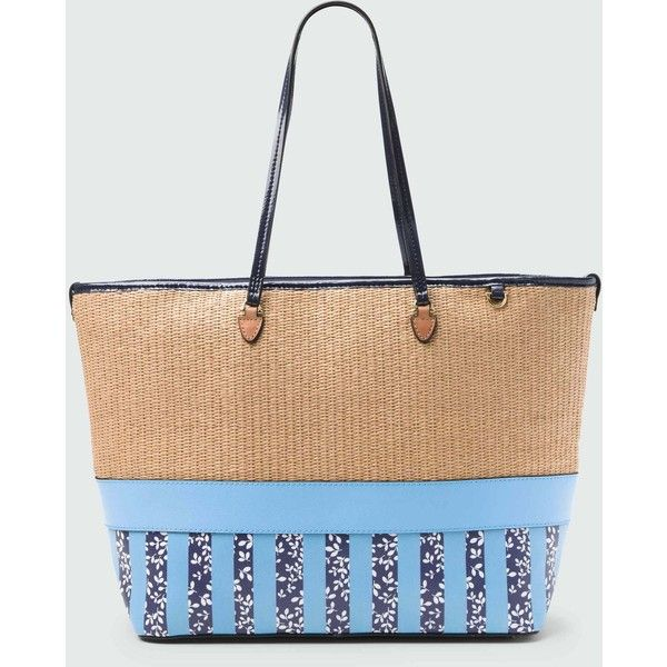 Dr James Peabody Straw Printed Tote 165 Liked On Polyvore Featuring Multi Coloured Pursesstraw