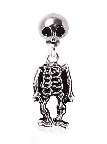 316L Surgical Steel Two-Piece Skeleton Dangle Earring by Every Body Jewelry #InkedShop #Jewelry #earring #skeleton #cute