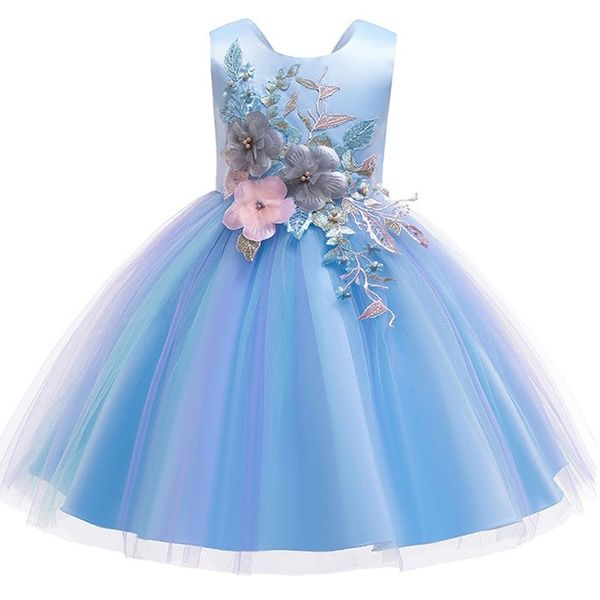 Kids Summer Princess Party 3D Flower Dress for Girls Infant Lace Petal Children Bridesmaid Elegant Dress for Girl Baby Girls Clothes | Wish