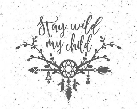 Stay Wild SVG Cut File  Car Decal SVG  Instant Download  Printable vector clip art  Silhouette /& Cricut