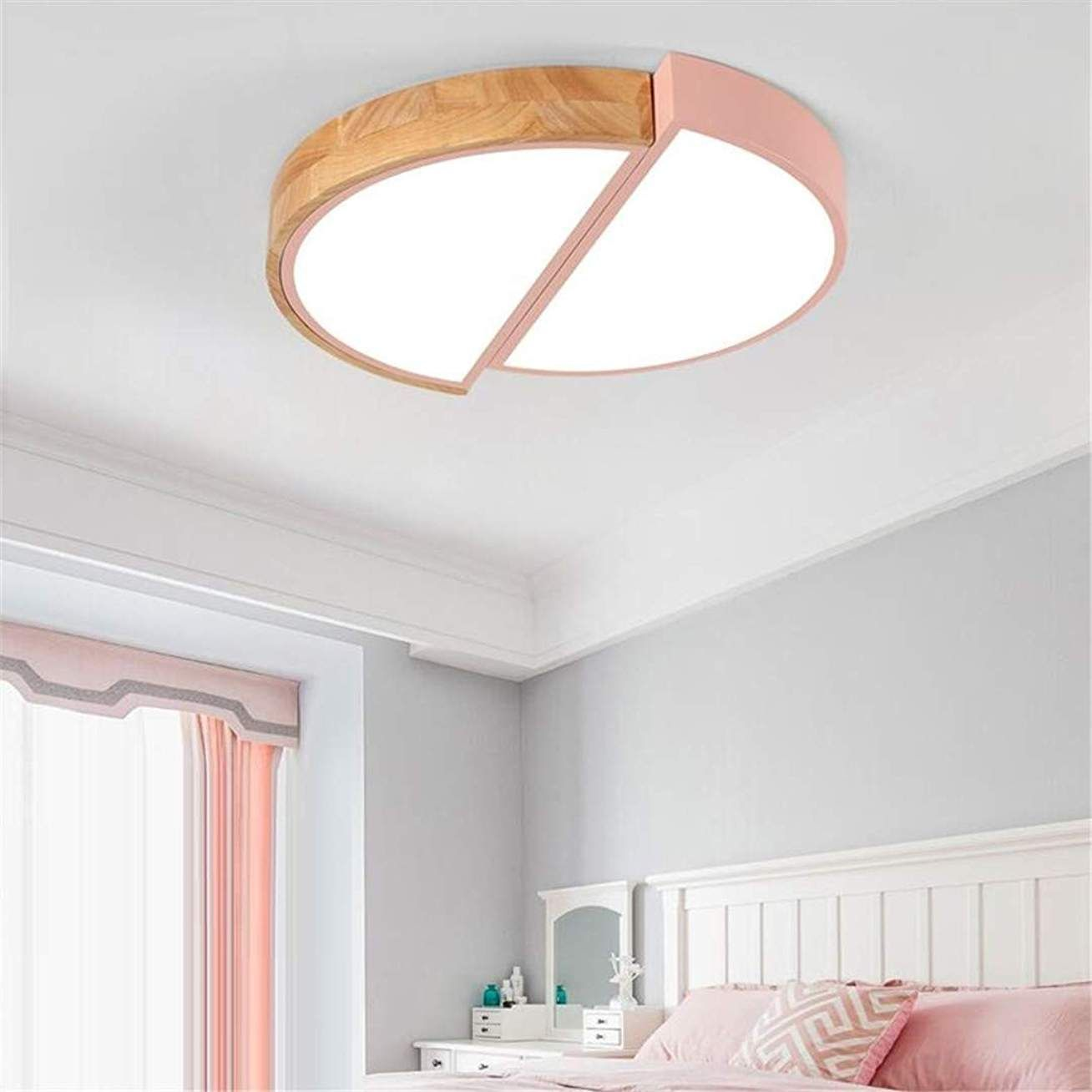 Mtx Ltd Nordic Rose Lampe De Chambre Ronde En Fer Forge Solide