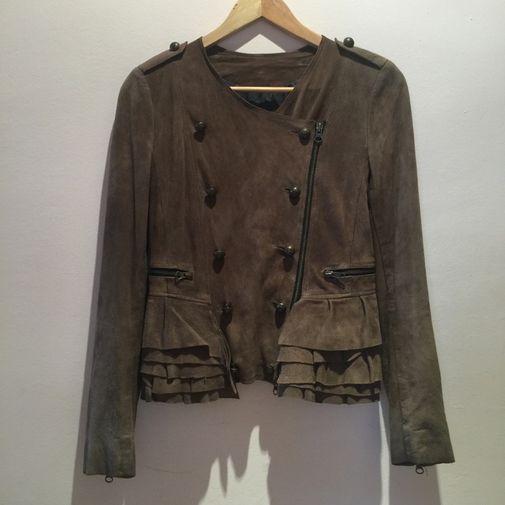Abrigo negro con cinturón Zara Chicfy